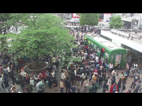 Shibuya station Hachiko Exit in Tokyo on April, 2018 (東京 渋谷駅ハチ公口2018年4月)