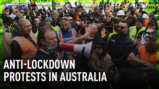 Tensions high at anti-lockdown protests in Melbourne and Sydney