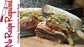 Pittsburgh Steelers Primanti Burger - NFL Burgers - NoRecipeRequired.com