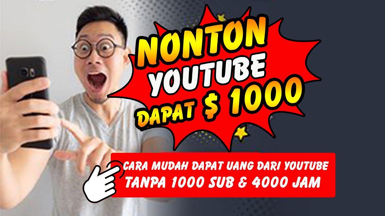 NONTON YOUTUBE DI BAYAR JUTAAN RUPIAH