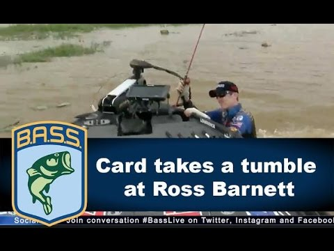 Brandon Card falls into Ross Barnett