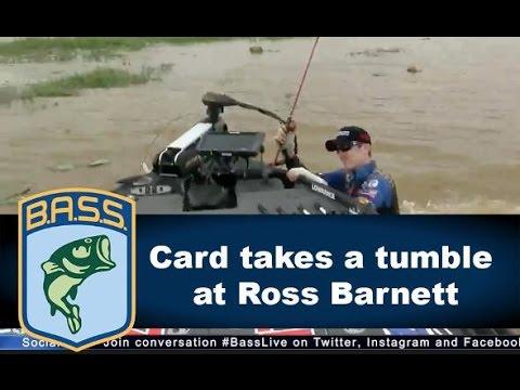 Brandon Card falls into Ross Barnett