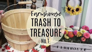 TRASH TO TREASURE NO.1🌻DIY FARMHOUSE DECOR🌻AND PICKING FLOWERS FROM MY GARDEN!