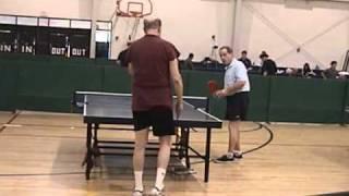 Bill Cantor vs Lev Vays - Over 60 Singles - Table Tennis / Ping Pong - GCSG