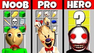 Minecraft Battle: NOOB vs PRO vs HEROBRINE: HORROR GAME CRAFTING CHALLENGE / Animation