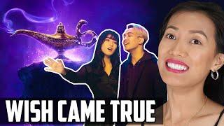 Gamaliél And Isyana Sarasvati A Whole New World Reaction Aladdin Theme With Indonesian Stars