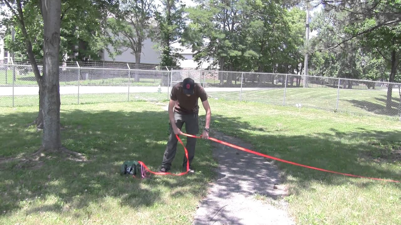 One Of The Best Ways To Rig A Slack Line   YouTube