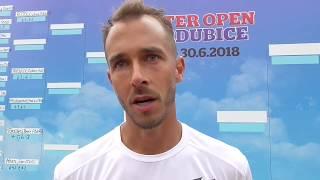 Lukáš Rosol po vítězství ve 2. kole Rieter Open Pardubice 2018