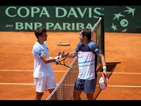 Guido Pella vs. Paolo Lorenzi  | Copa Davis 2017 [Highlights] ᴴᴰ