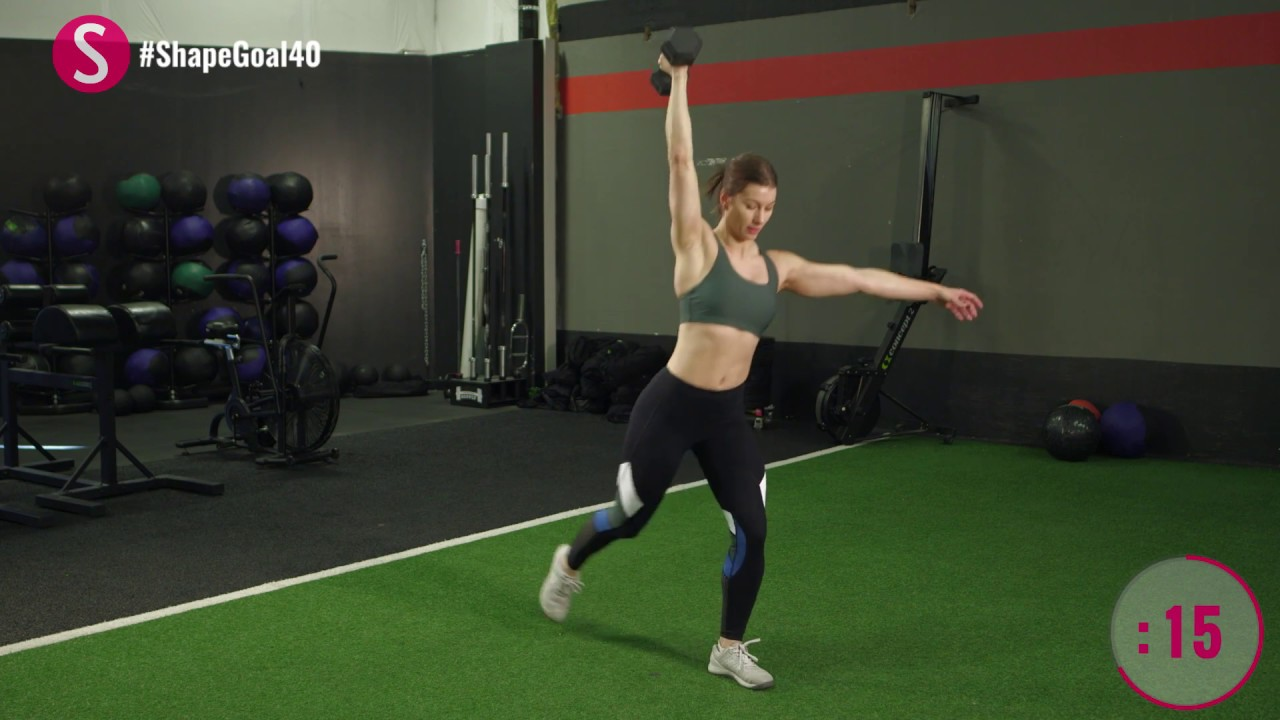 The 10-Minute Dumbbell Workout   #CrushYourGoals with Jen Widerstrom   SHAPE