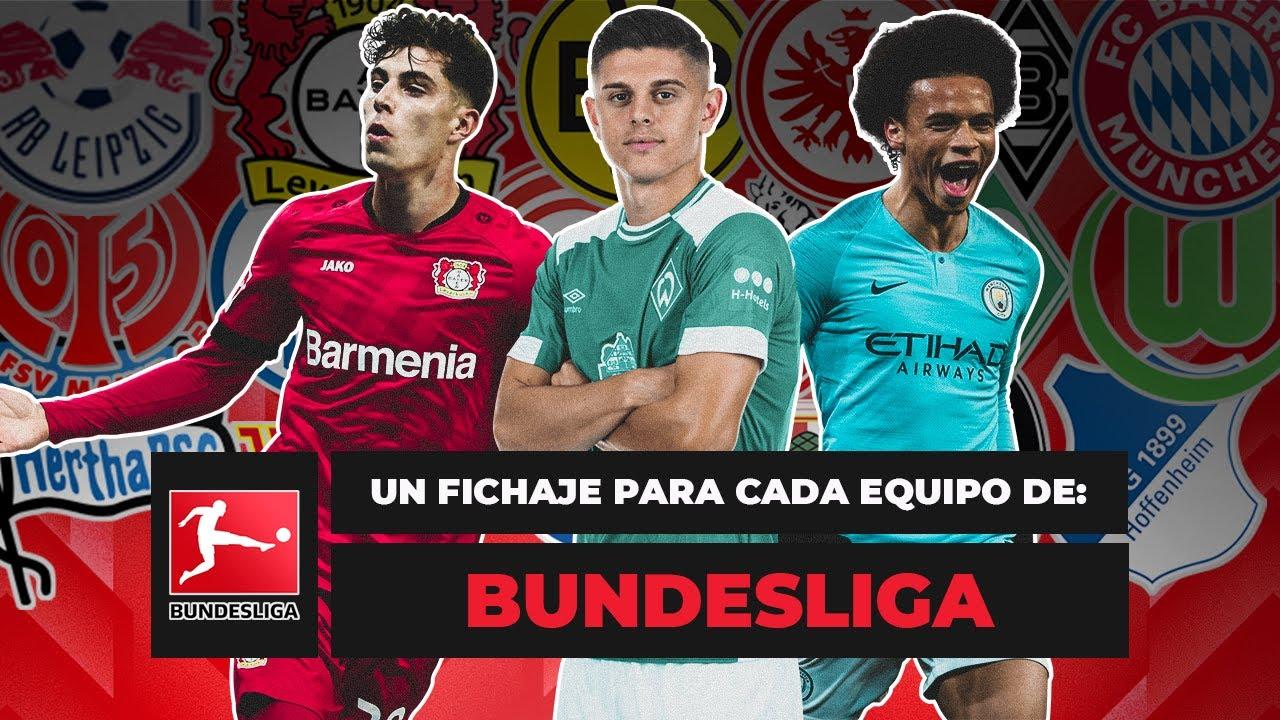 UN FICHAJE PARA CADA EQUIPO DE LA BUNDESLIGA - con Pizarra de la Bundesliga