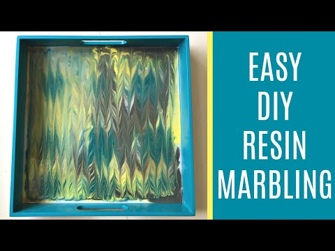 Do It Yourself Epoxy Resin Art - Ebru Marbling Style