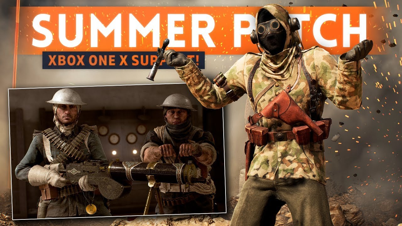 CHANGES, FIXES & *NEW* FEATURES! - Battlefield 1 Summer Update Patch Notes (Xbox One X Support!)