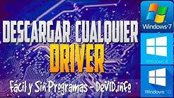 Descargar Cualquier Driver o Controlador Para Tu PC | [Windows 7/8/8.1/10] | Fácil & Sin Programas