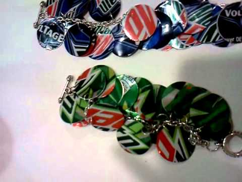Bracelet Made Using Mountain Dew Cans