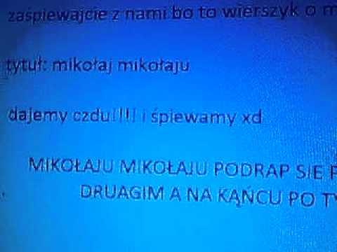 Wierszyk O Mikołajuavi Youtube