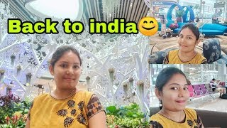 Flight journey from Singapore to india travel vlog||back to india||singapore trip||telugu vlogs||