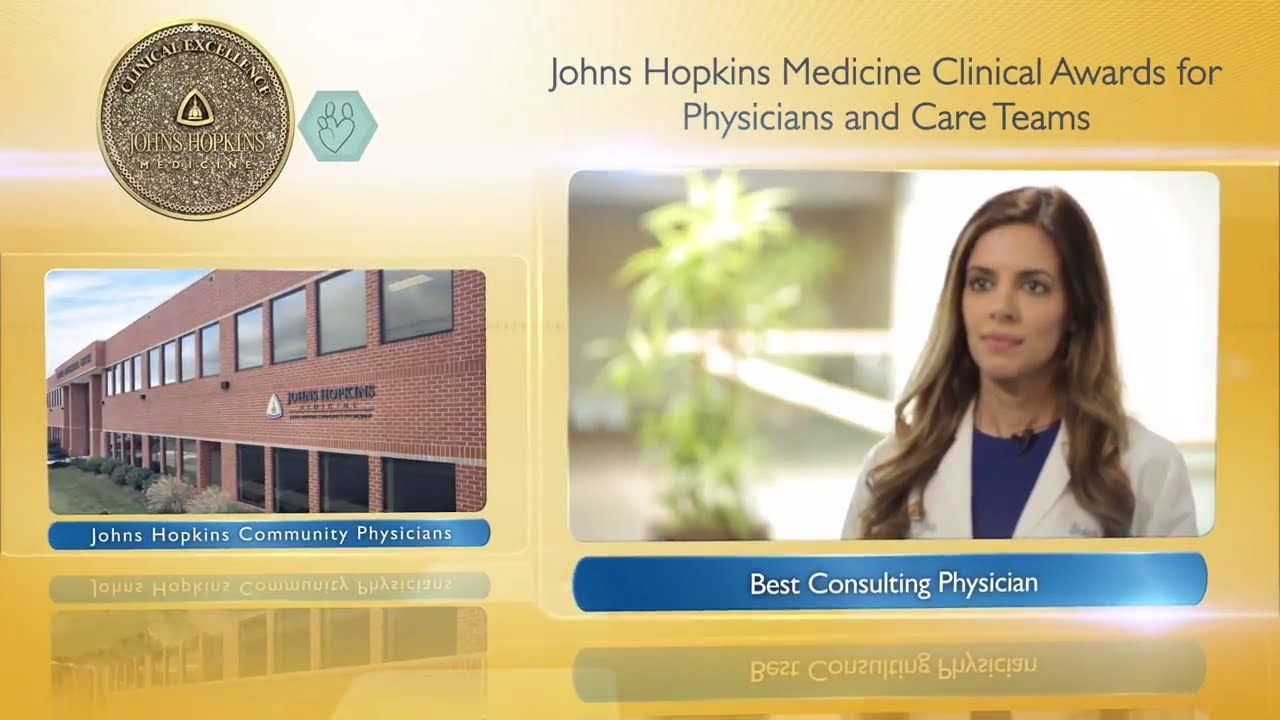 2017 Best Consulting Physician at Johns Hopkins Community Physicians –  Shabina Ahmed, M D