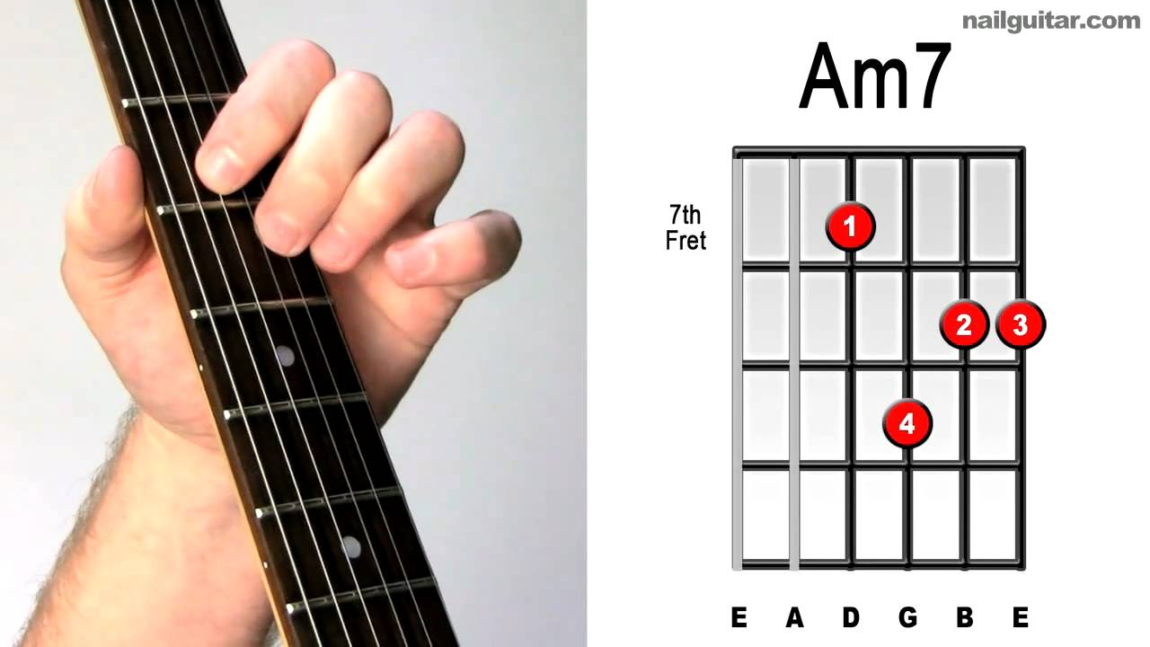 am7 play electric guitar chords youtube. Black Bedroom Furniture Sets. Home Design Ideas