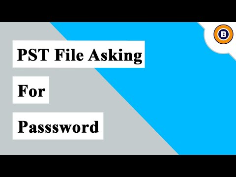 How To Unlock Outlook 2016, 2013 PST File Asking For Password | Fix PST File Asking For Password