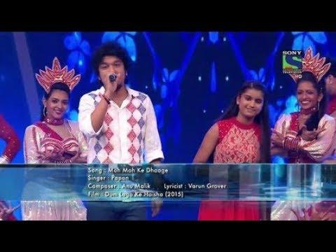 Indian idol junior 2015 (jalwa ) (Bihu pak pak) -Papon and Nahid- part 3