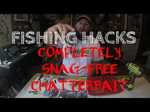 FISHING HACKS: SNAG FREE WEEDLESS CHATTERBAIT- WITH FISH CATCHES