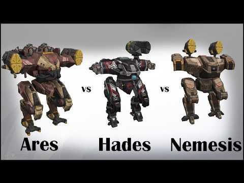 War Robots - Ares vs Hades and Nemesis ability damage comparison