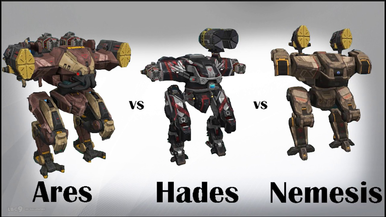 War Robots - Ares vs Hades and Nemesis ability damage ...