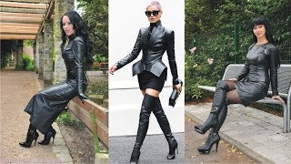 Formal Style Ladies Leather Dress And Leather Boots