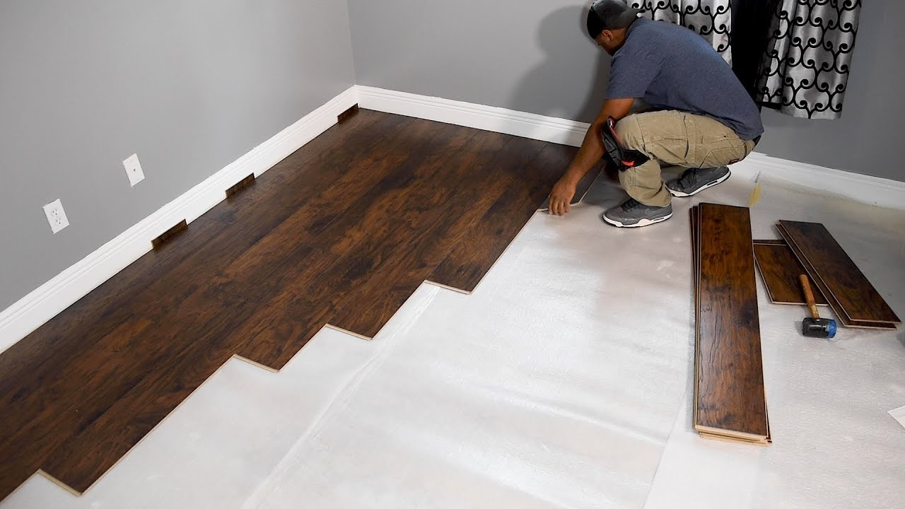 How to Install Laminate Flooring for beginners - YouTube