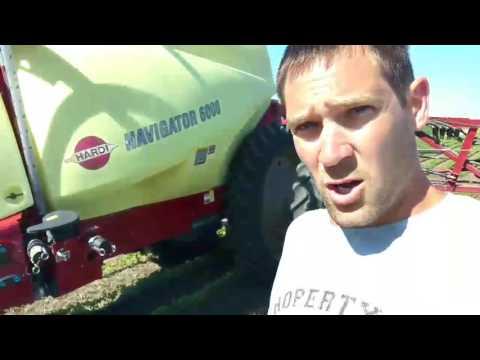 Spraying GMO soybeans/how the sprayer works