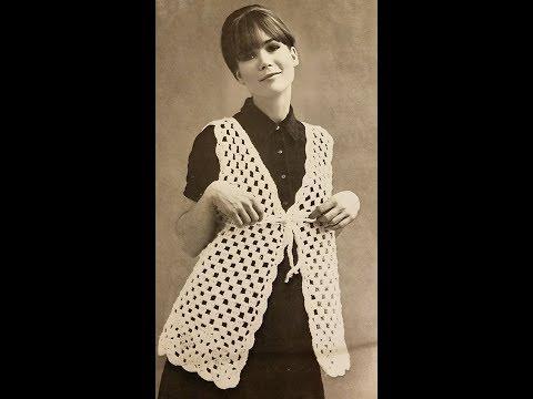 Vintage Granny Crochet Vest Pattern - Easy & FREE!