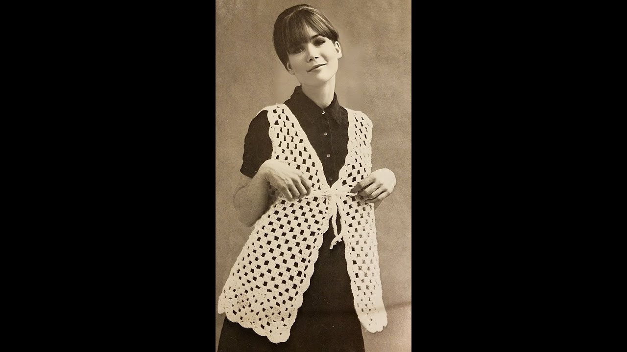 Vintage Granny Crochet Vest Pattern Easy Free Youtube