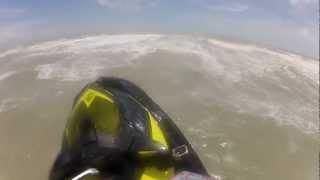 Yamaha Capsized and Jumping Waves in Hurricane Isaac