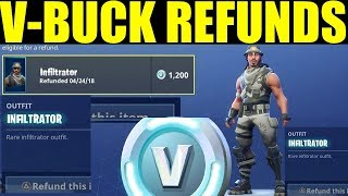 Refunding your V-bucks On Fortnite HOW YOU CAN Return your items After Patch!