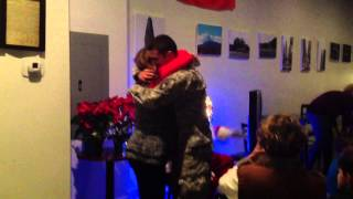A Soldier's surprise homecoming to his Mom at Christmas!