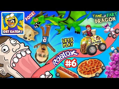 Thumbnail: ROBLOX #6: GET EATEN ... by DOGE? + Fart Dragon Taming! (Fast Food on Wheels is Yummy Nummy!)