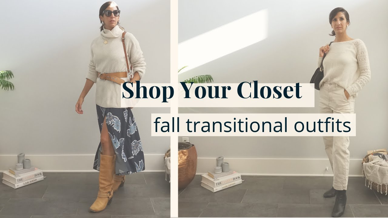 Shop Your Closet: Fall Transitional Outfits - Edgy & Minimal Styles | Slow Fashion 1