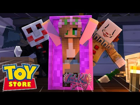 IT THE CLOWN HAS A NEW EVIL PLAN TO SHUT DOWN THE TOY STORE !!! Minecraft TOY STORE Little Kelly