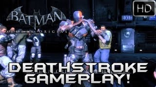 Batman Arkham Origins: Deathstroke Gameplay Trailer HD + Deathstroke Skins!!!