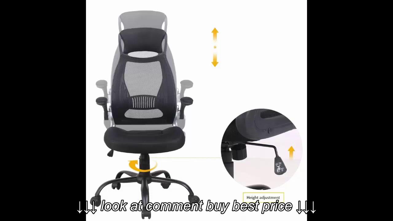 OWLN Ergonomic High Back Mesh Office Chair with Adjustable Armrest Swivel Computer Task Chair