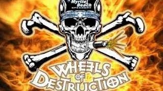Wheels Of Destruction Thrill Show - School Bus Racing - Myrtle Beach Speedway