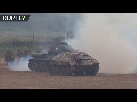 Russian military units perform at Army 2016 expo