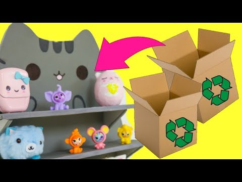 Easy and creative cardboard craft to make when you are bored -kawaii pusheen room decor