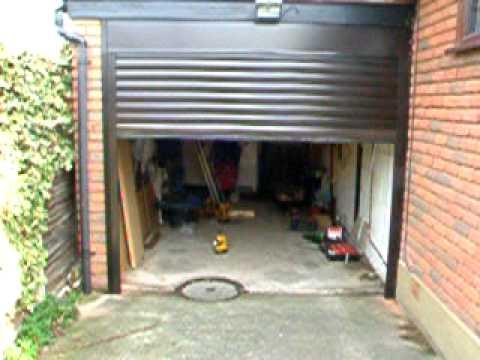 Brown Roller type Garage Door - YouTube
