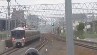 223系1000番台+225系0番台JR総持寺にて