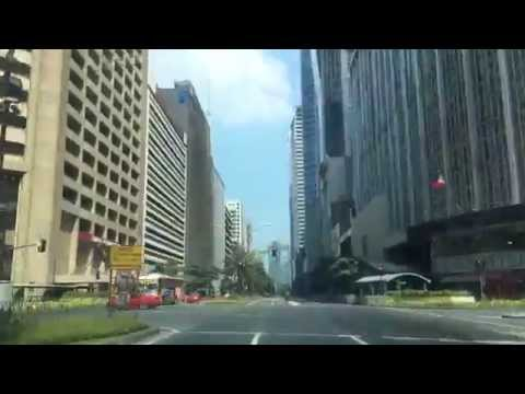 Makati Central Business District Drive No Traffic by HourPhi
