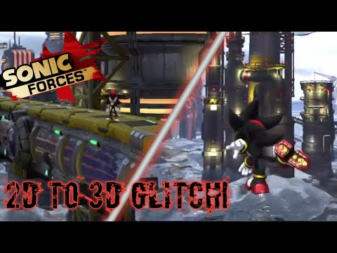 2D to 3D glitch in network terminal! Sonic Forces!