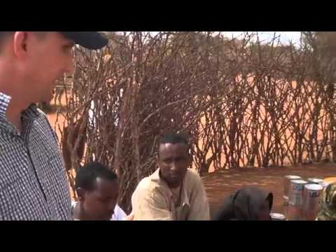 Food distribution point for Horn of Africa drought