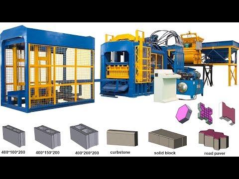 QT10-15 Fully Automatic Block Brick Making Machinery